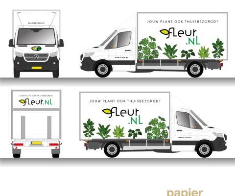 Autobelettering Fleur.nl